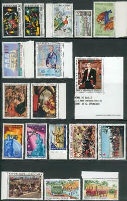 Dahomey lot from 1965-1968 ** MNH with 2 s´sheet´s fs25
