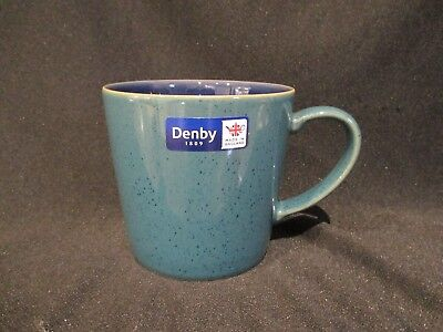 Denby HARLEQUIN - Large Coffee Mug Green and Blue - BRAND NEW