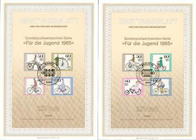 Germany 2 big special FDC sheets Bicycle Fahrrad ft10-2