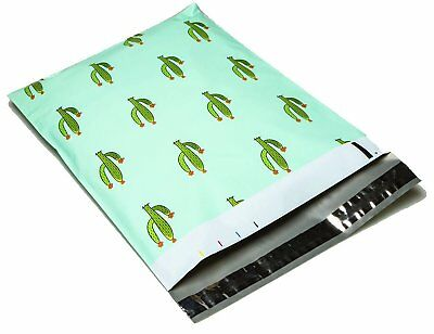 6x9 or 10x13 Cactus Designer Poly Mailers Plastic Envelopes Shipping Bags