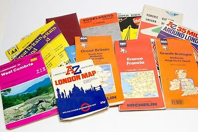 Mixed Lot of Vintage Travel Maps International Europe France London Hungary