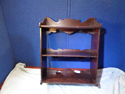 ~*~OLD FARM ESTATE~*~  Antique Home Made Wood Wall Hanging Shelf