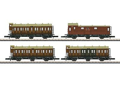 Märklin Z 87041 4 Piece Passenger Car Train Set, KPEV , ep.i NIP