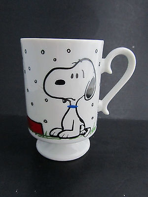 Vintage 1958 Peanuts Snoopy United Feature Syndicate Schulz Coffee Cup Mug
