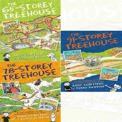Andy Griffith's 3 Books Coleection Set 65-78- and 91 The Storey Treehouse NEW