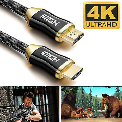 3ft 6ft 10ft 15ft 25ft 30ft 50ft 2160P 4K@60Hz UHD HDMI Cable 2.0 AV 3D Gold CA