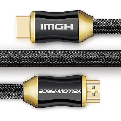 4K HDMI Cable 15ft- 4K HDR, 3D, 2160P, 1080P, Ethernet- 28AWG Braided HDMI Cord