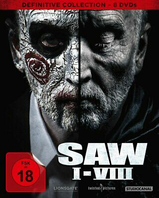 SAW I-VIII (1+2+3+4+5+6+7+8) - Definitive Coll. # 8-DVD-BOX-NEU
