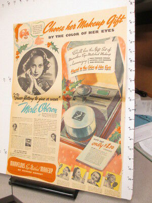 newspaper ad 1937 MERLE OBERON Richard Hudnut cosmetics perfume full page