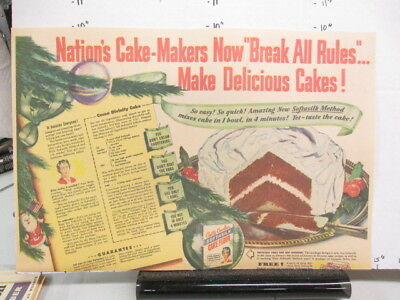 newspaper ad 1940s Betty Crocker cake frosting SOFTASILK WWII American Weekly