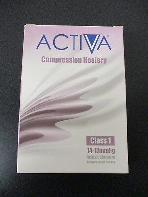 Pair of Activa Compression Stockings Class 1 14-17mmHg Size M  Air Travel - A2
