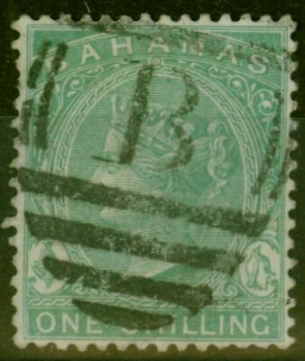 Bahamas 1898 1s Blue-Green SG44a Fine Used