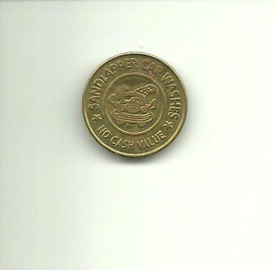 Vintage Sandlapper Car Wash Token $1.00 in English and Spanish
