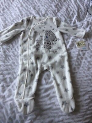 BNWT Unisex Grey Tatty Teddy Baby Grow Sleep suit  3-6 Month New