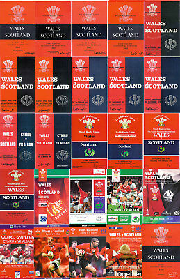 WALES v SCOTLAND 1948 - 2004 RUGBY PROGRAMMES REDUCED PRICES CHEAPEST ON EBAY