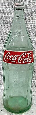 """Old 1978 Coca Cola Coke 32 oz 1 qt 12"""" Tall Old Clear Green Glass Bottle FREE SH"""