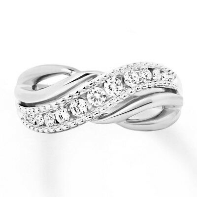 Sterling Silver .925 CZ Promise Infinity Fashion Women's Ring Band Size 4-10