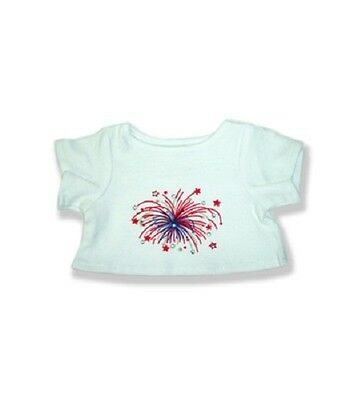 """Sparkly pattern T-shirt teddy Bear clothes fits 15"""" Build a Bear"""