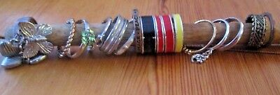 Collection / Job Lot Costume Jewellery Rings. Assorted Sizes. 16 In Total.