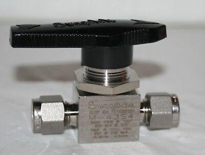 "1/4"" Tube-Fitting Alloy 400 Ball Valve Swagelok M-43S4 NEW"