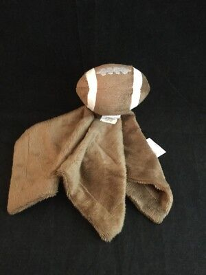 Football Lovey Brown Security Blanket Toys Babies R Us Plush Baby Toy Soft