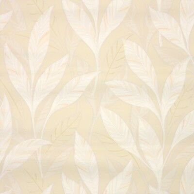 1940s Botanical Vintage Wallpaper White And Beige Leaves