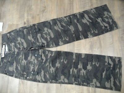 CHECK IN coole Camouflage Hose khaki Gr. 158 NEU ST118
