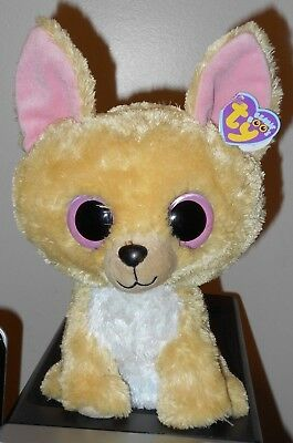 "NM* Ty Beanie Boos ~ NACHO the 10-11"" Chihuahua Dog (Buddy Size) NM with NM TAGS"
