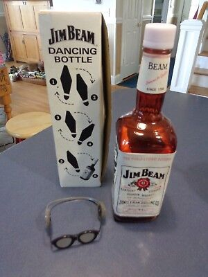 JIM BEAM Whiskey  DANCING BOTTLE VOICE NOISE ACTIVATED Rare Vintage Collectible