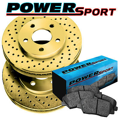 2 FRONTS Black Hart *DRILLED /& SLOTTED* Disc Brake Rotors F2392