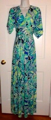 08afc4c2f4e69a NWT LILLY PULITZER Bright Navy Armadilly Dally Parigi Maxi Dress L ...