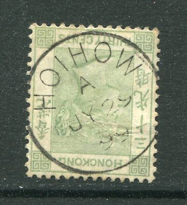 1891 China Hong Kong GB QV 30c stamp Used with 1899 Hoihow CDS Pmk (2)