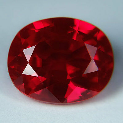 11.25ct.AWESOME BLOOD RED RUBY OVAL LOOSE GEMSTONE