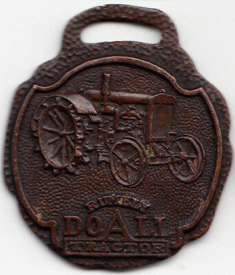 Rumely Tractor Watch Fob - Advance Rumely Thresher Co - Laporte Indiana, Farming