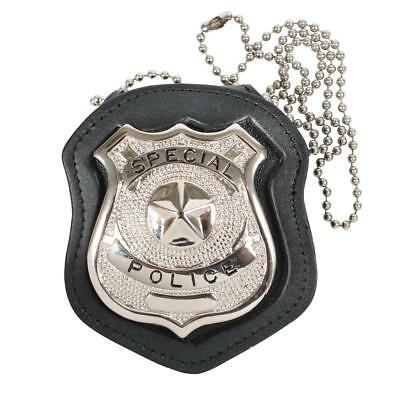 Rothco Police Leather Cut Out/Clip On Leather Badge Holder