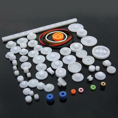 60x Type Plastic Shaft Single Double Reduction Crown Worm Gears Robot