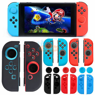 Authentic For Nintendo Switch Joy-Con Anti-Slip Cover with Thumb Grips Caps Case