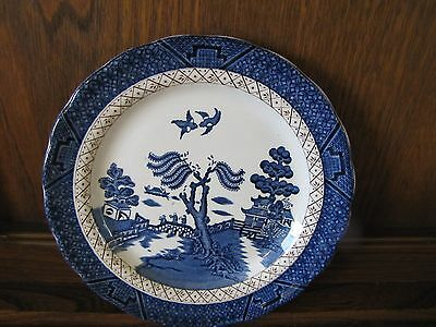 Vintage Booths~Real Old Willow~1X21.5cms Plate with Gilding