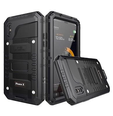 Heavy Duty Hybrid Metal Armor Shockproof Aluminum Case For iPhone X 6 6S 7 Plus