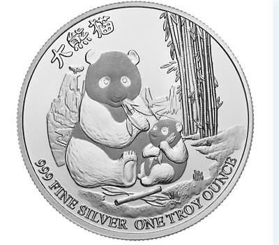 1 Ounce Silver 2 Dollar Niue Panda with Cub New zealand 2017