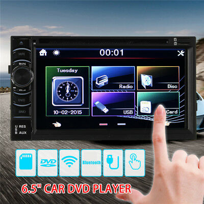 """Double 2Din 6.5"""" Car Stereo DVD CD MP3 Player In Dash Bluetooth Ipod TV Radio FM"""