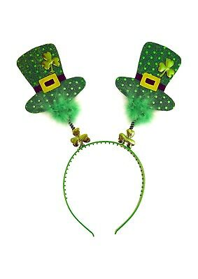St Patricks Day Wiggly Head Band Bopper With Fur Fancy Dress Accessory