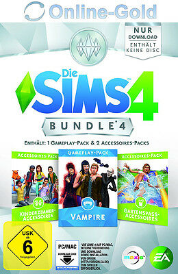 Die Sims 4 Bundle 4 - Vampire Kinderzimmer Gartenspass EA Origin Key PC Code EU