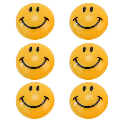 Round Cartoon Smile Smiley Face Magnetic Refrigerator Education Stickers DIY x 6