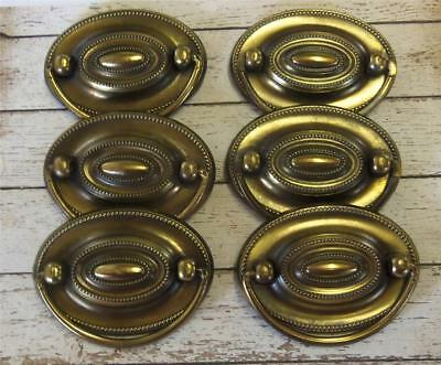 "6 Drawer Pulls Bail 2-1/4"" Centers Antique English Restoration Hepplewhite"