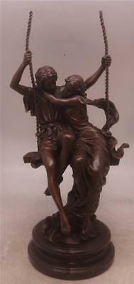 Bronze Sculpture 'Le Printemps' / 'Spring' - Two Lovers on a Swing