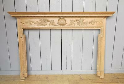 Large Georgian Pine Fire Surround - Fire Place Original Living Room