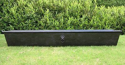 Large Victorian Cast Iron Tapered Garden Planters or Troughs - Reclaimed