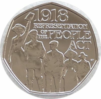 2018 Representation of the People Act 50p Fity Pence Coin Uncirculated