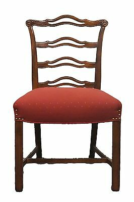 DREXEL New Travis Court Mahogany Chippendale Ladderback Side Chair